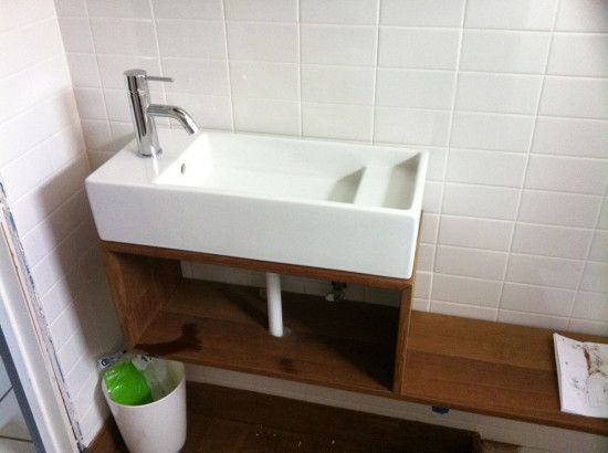 Lillangen Sink And Custom Wall Mounted Cabinet