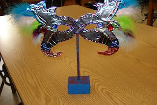 Craft Class Project 4- Repousse Carnivale Masks | ArtMuse67