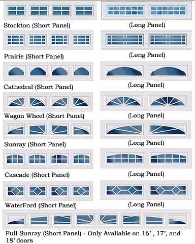 Garage Door Window Styles Google Search Garage Door Windows
