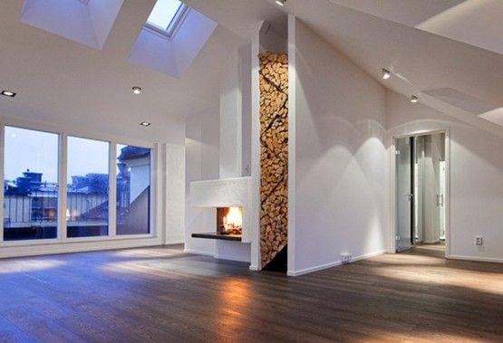 Fp Log Storage Firewood Storage Modern Fireplace Wood Storage