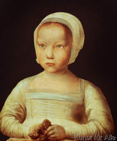 16. Jahrhundert - Mädchen mit totem Vogel