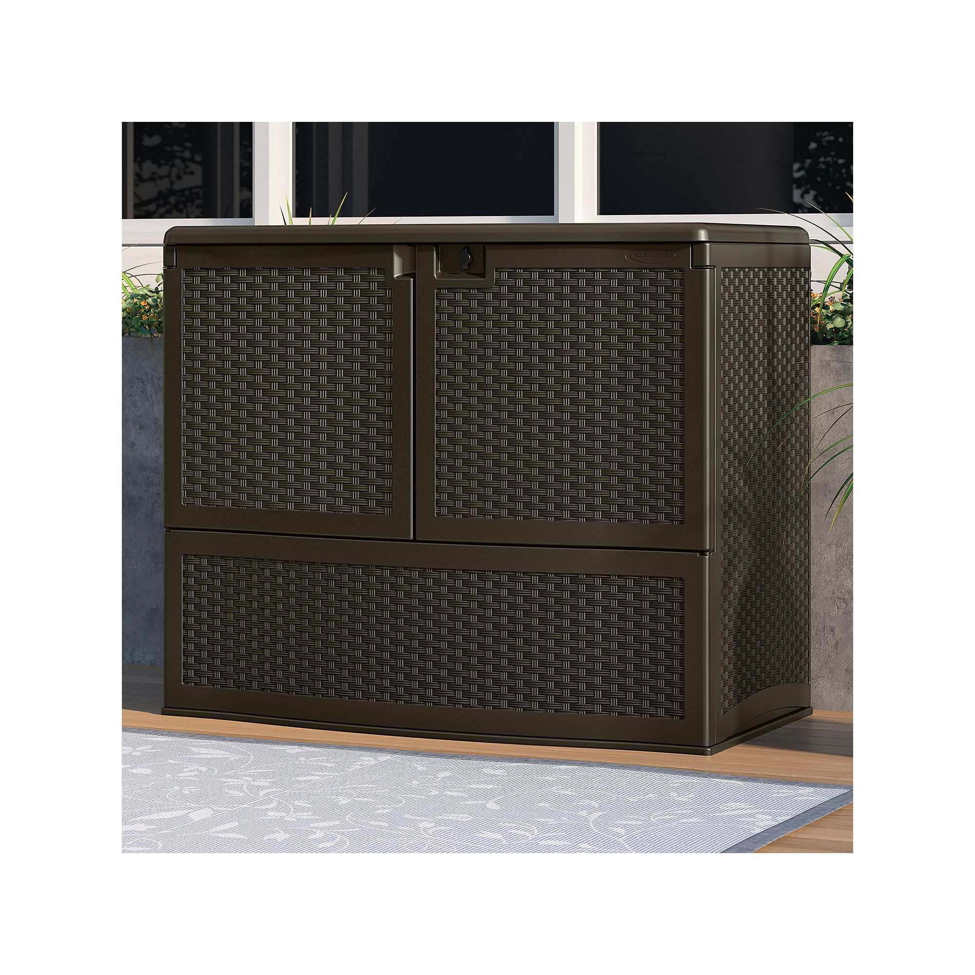 Suncast Backyard Oasis Top Lid Storage & Entertaining ...