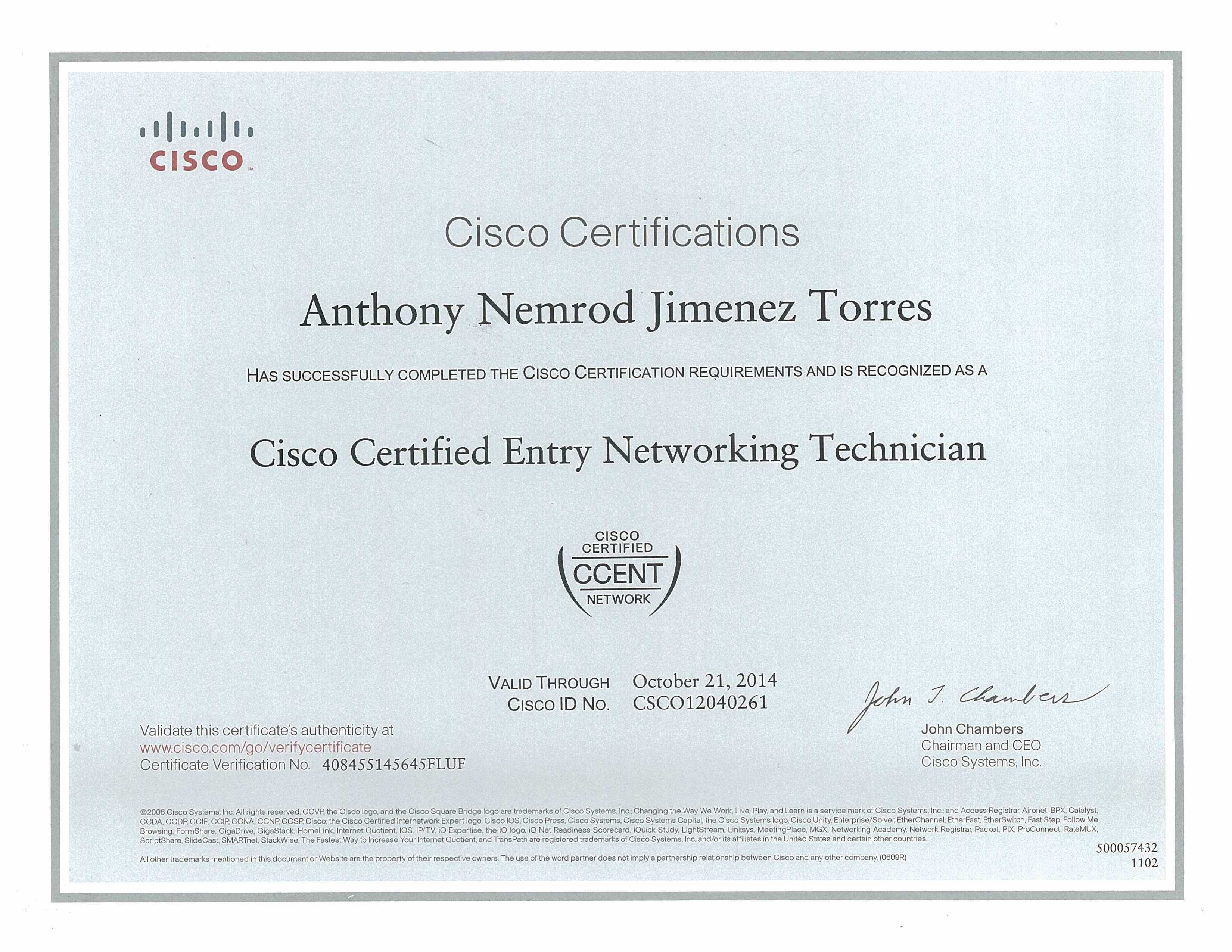 Ccent Cisco Certified Entry Networking Technician Mcse