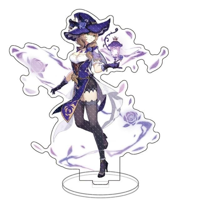 Photo of Anime Figure Genshin Impact Zhongli Diluc Venti Klee Keqing Qiqi Acrylic Stand Model Plate Desk Decor Standing Sign Fans Gifts – 25