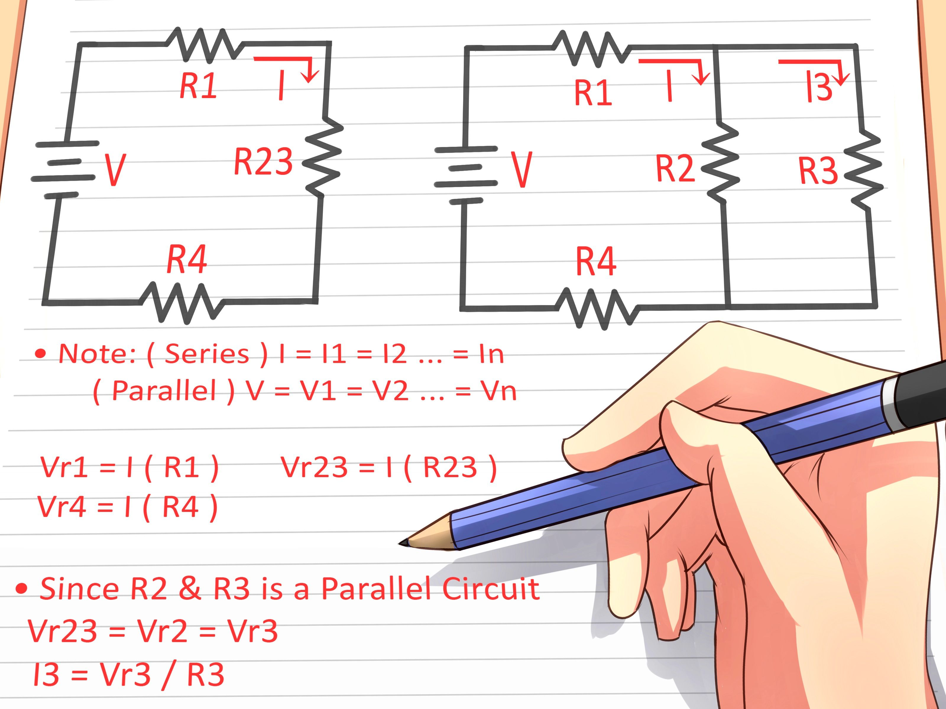 Component How To Analyze Resistive Circuits Using Ohms Law 3 Steps Capacitor Led Circuit Find Voltage Drop In Parallel Series Across Resistor Amperage A Calculation