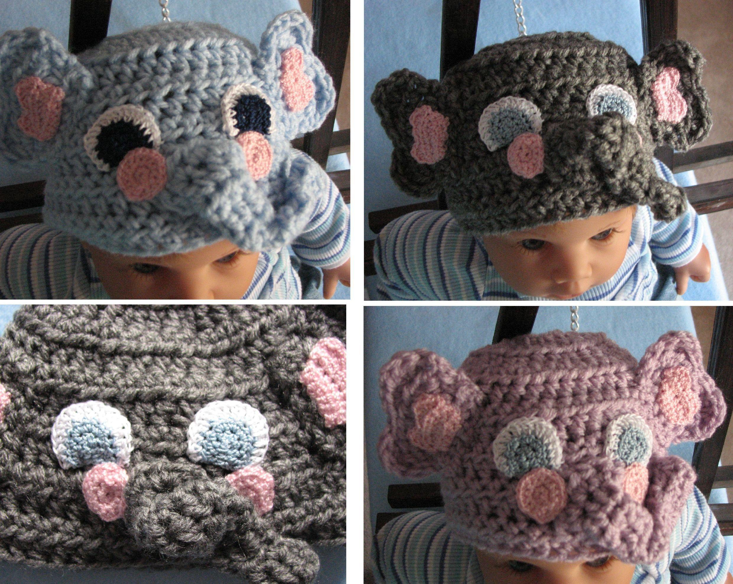 e3cd6bc91 Elephant - Infant Hat Crochet Pattern With Tutorials - Digital ...