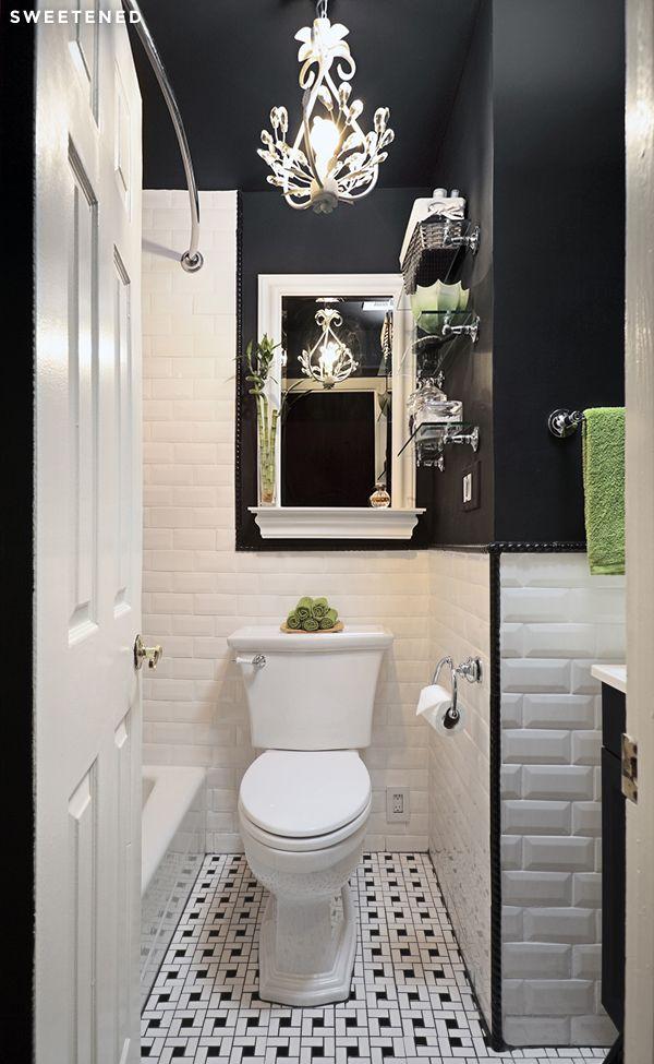 Before And After Prospect Heights Bathroom Renovation Badezimmer Schwarz Badezimmer Klein Und Weisse Badezimmer
