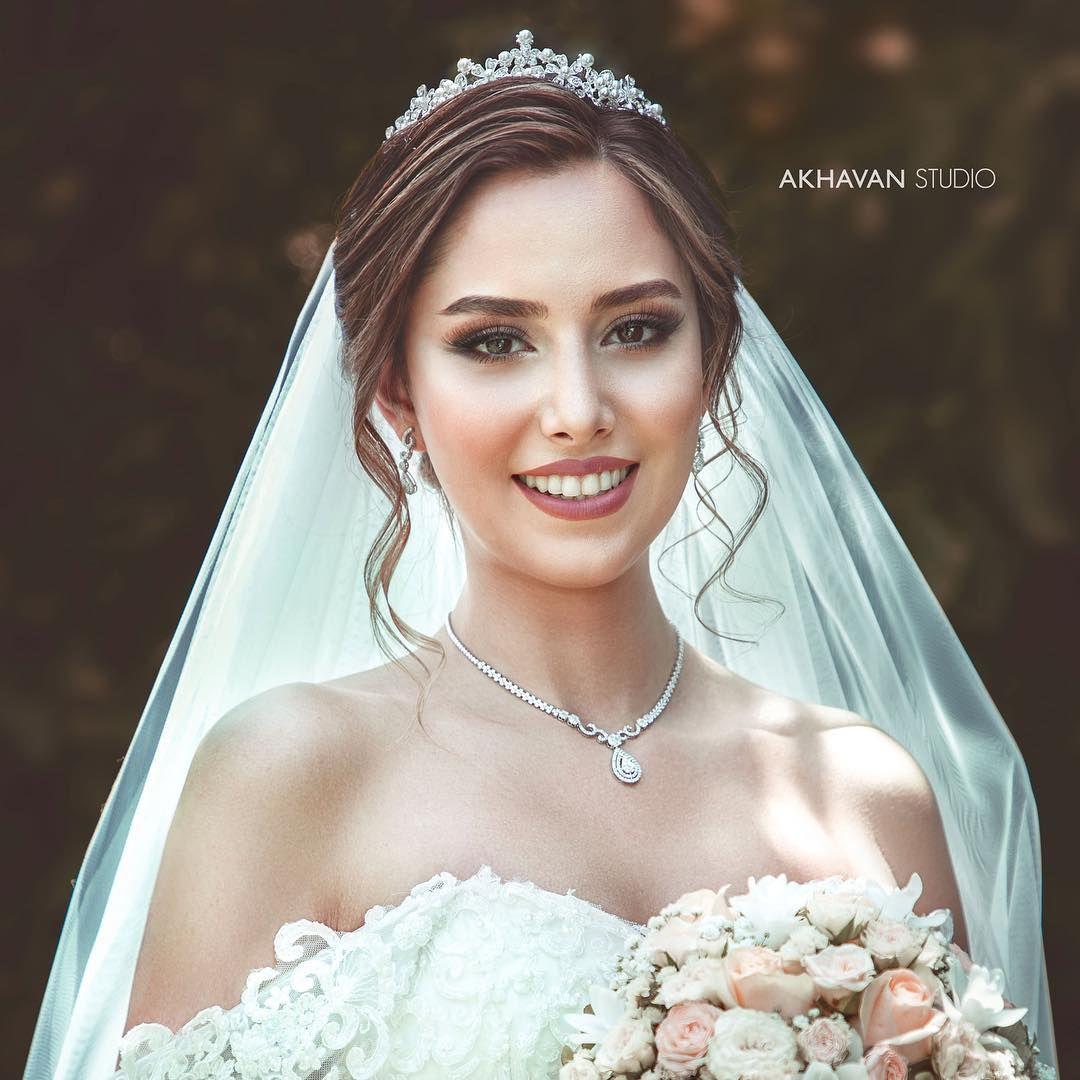 Photography Makeup Bride Beautiful Photo میکاپ عروس آرایش زیبا ایران ایرانی عروسی Wedding Hairstyles Bride Bridal Hair Updo Puffy Wedding Dresses