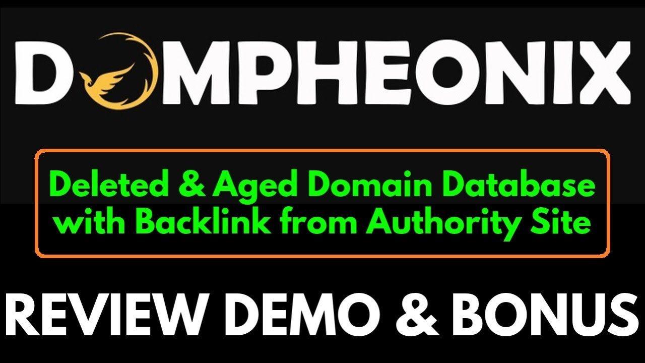 Dompheonix Review Demo Bonus Expired Domains Database With Manual Check Anchor Text Seo Basics Social Tool