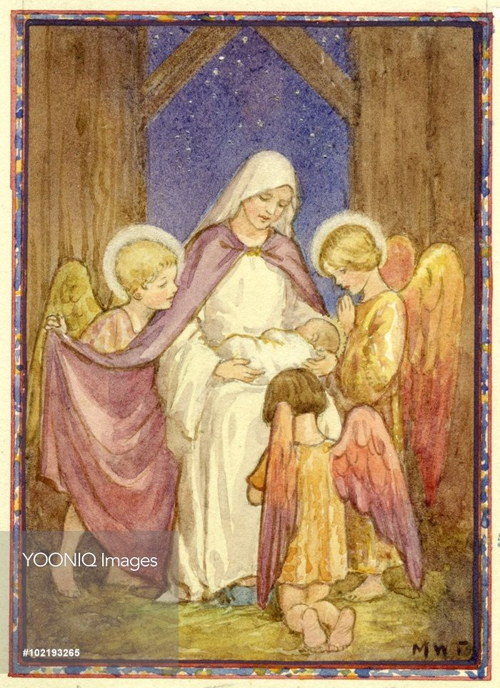 Lullaby,. Christmas card.- Margaret Tarrant