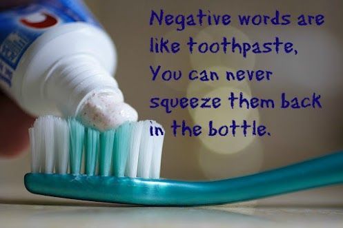 Image result for words are like toothpaste quote