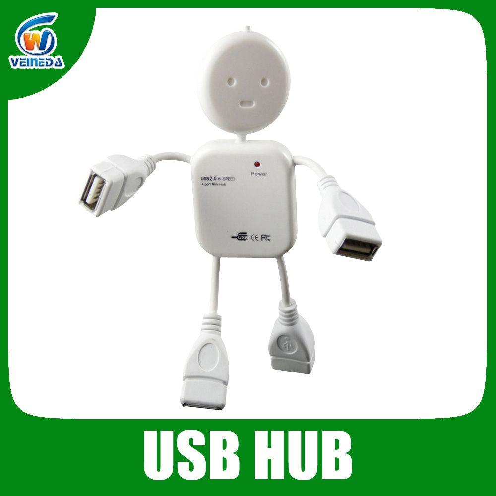 Mini High Speed USB 2.0 Hub 4 Ports Portable USB Hub 480 Mbps Hub ...