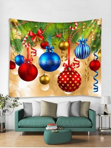 christmas star bell ball pattern tapestry art decoration on walls coveralls website id=21995