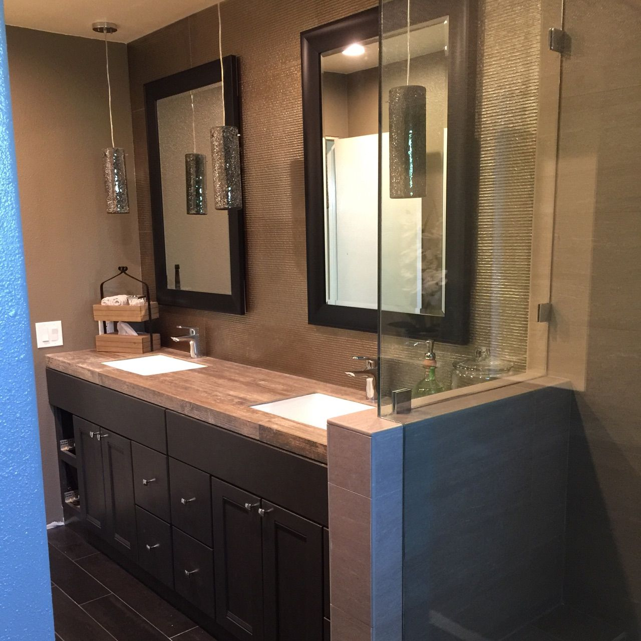Beautiful bathroom remodel designed by the staff