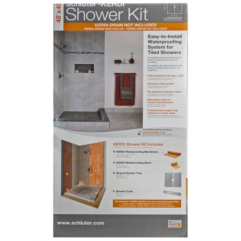 Schluter Kerdi Shower Kit Base Shower Kits Shower Curb Shower