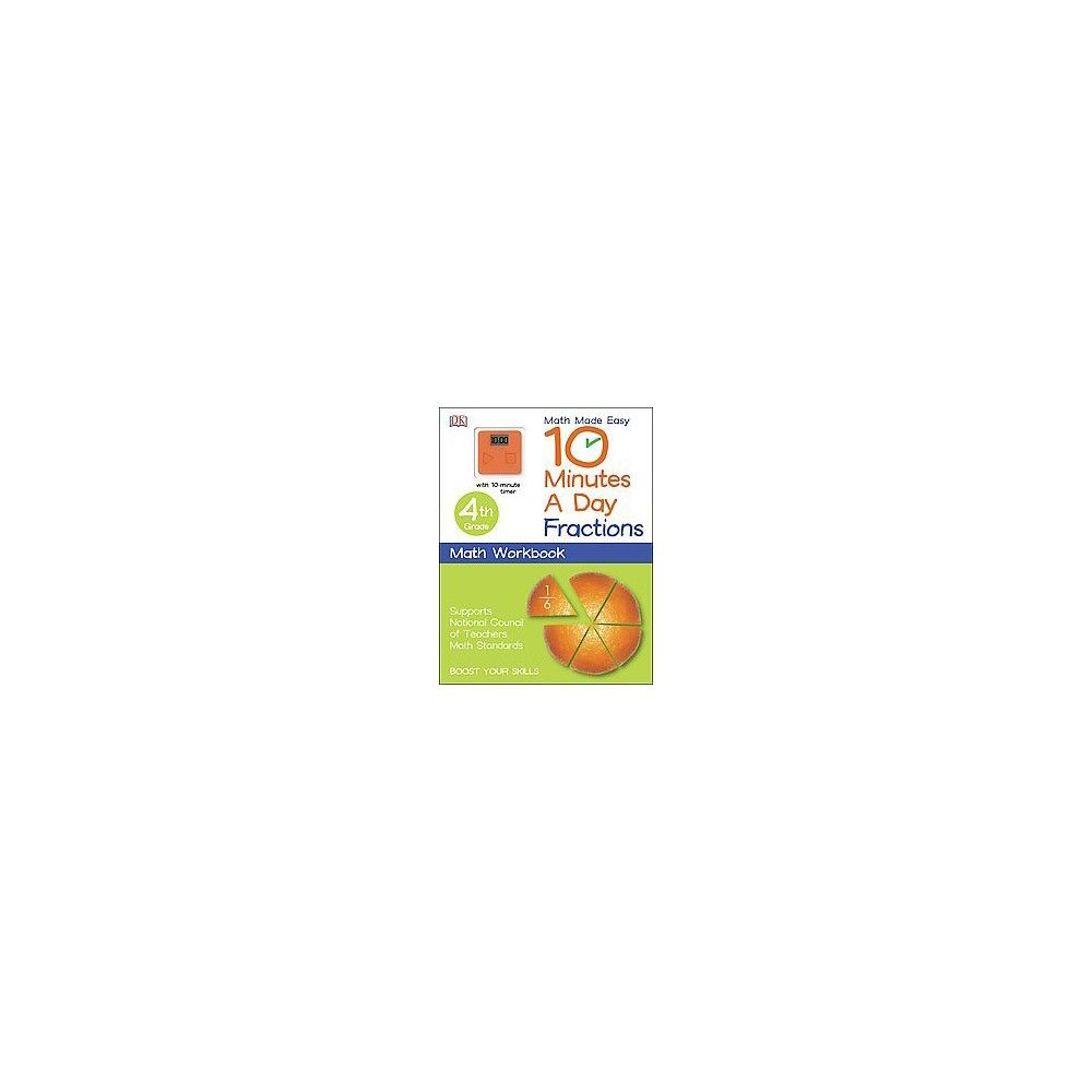 10 Minutes a Day Math 4th Grade : Fractions (Workbook) (Paperback ...