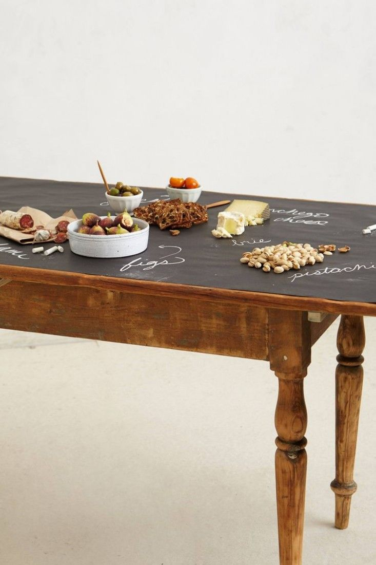 Have All Dinner Guests Write What They Are Thankful For On The Anthropologie Chalkboard Table Runner