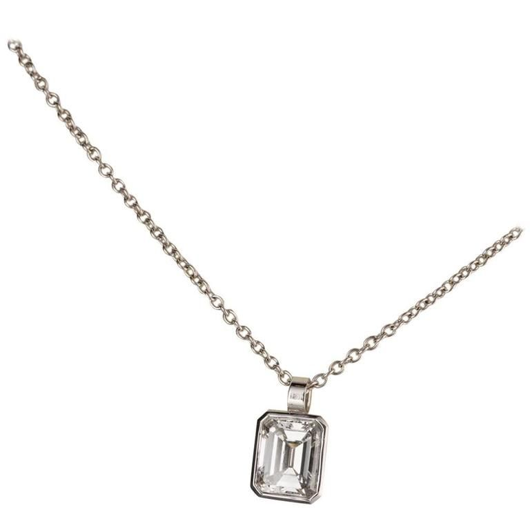 memories long necklaces emerald cut diamond necklace line