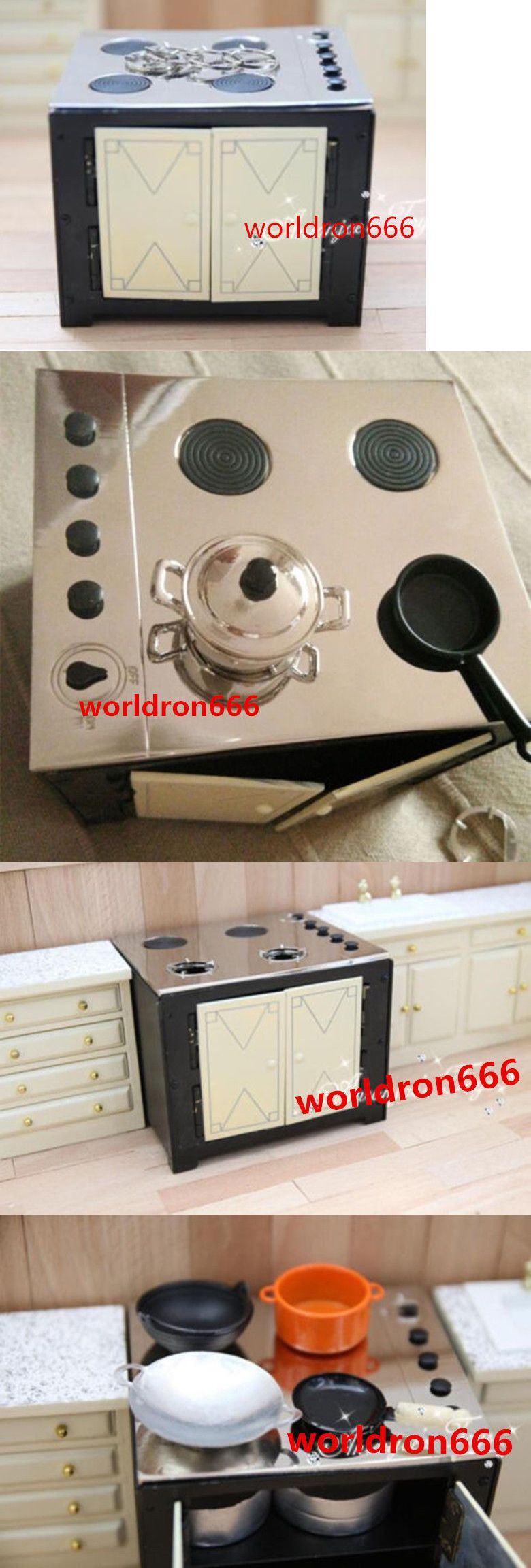 Kitchen Sets 166801 Usa Miniature Kitchen Mini Alloy Stove Fire