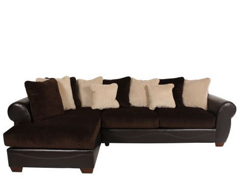 Great ASH 50700/SECTIONAL   Ashley Viva Chocolate Sectional | Furniture Source  Des Moines,