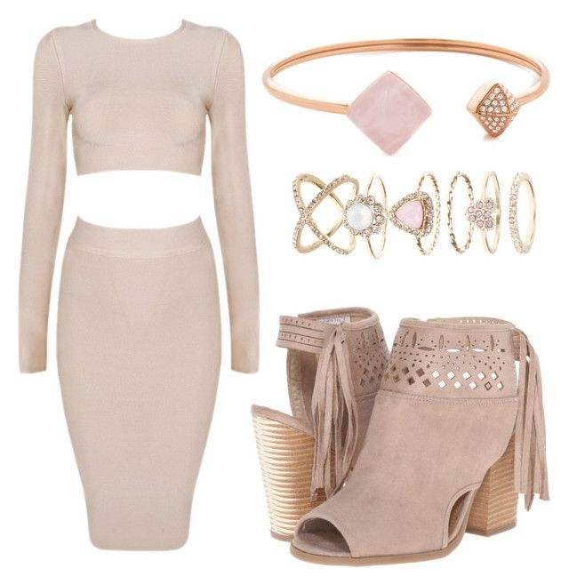 """""""Simply Not Nude Pink"""" by kimbo20111 ❤ liked on Polyvore featuring Posh Girl, Michael Kors and Accessorize"""