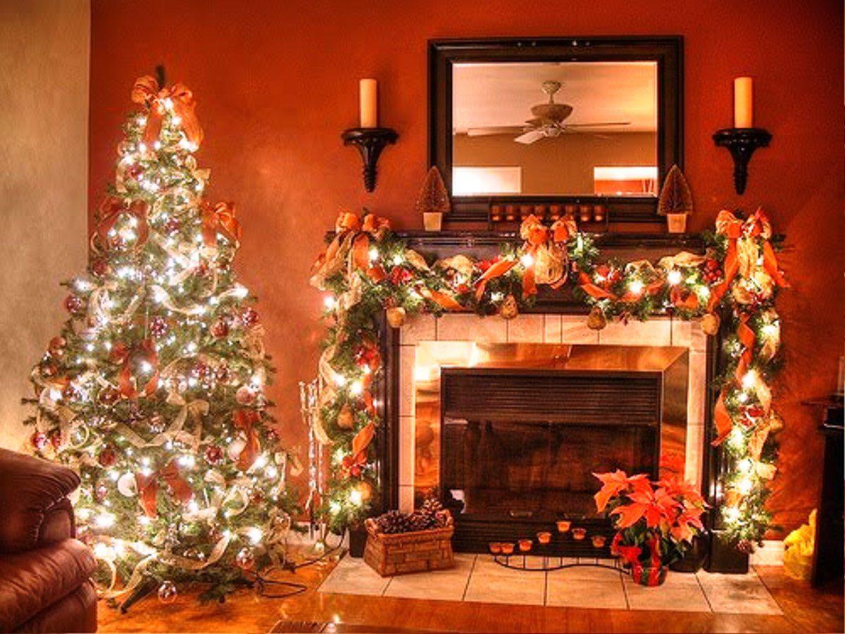 Christmas Decorating Idea House | cat christmas decorating ideas tags best christmas fireplace design ...