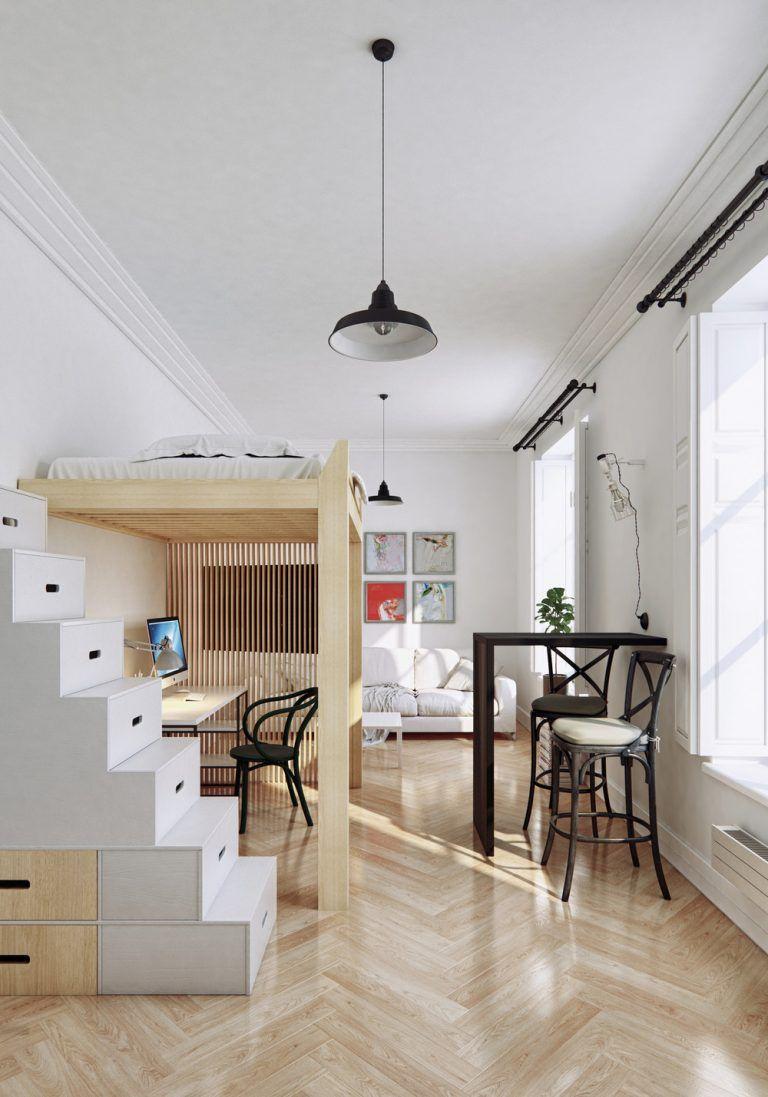 2 Small Apartment With Modern Minimalist Interior Design Small
