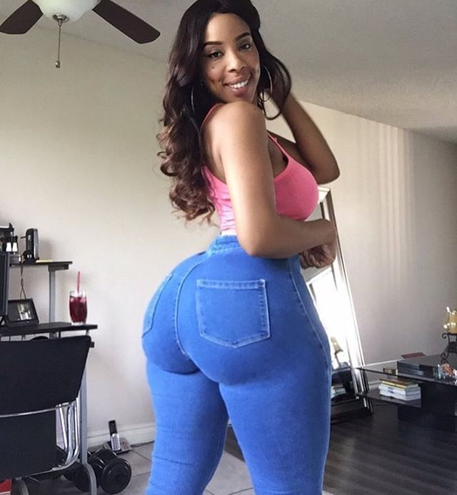 Cutie With A Thick Black Booty Donk Tightjeans