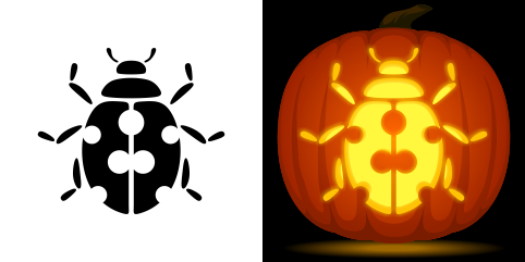 pumpkin template ladybug pumpkin stencil  Pin by Muse Printables on Pumpkin Carving Stencils | Pumpkin ...