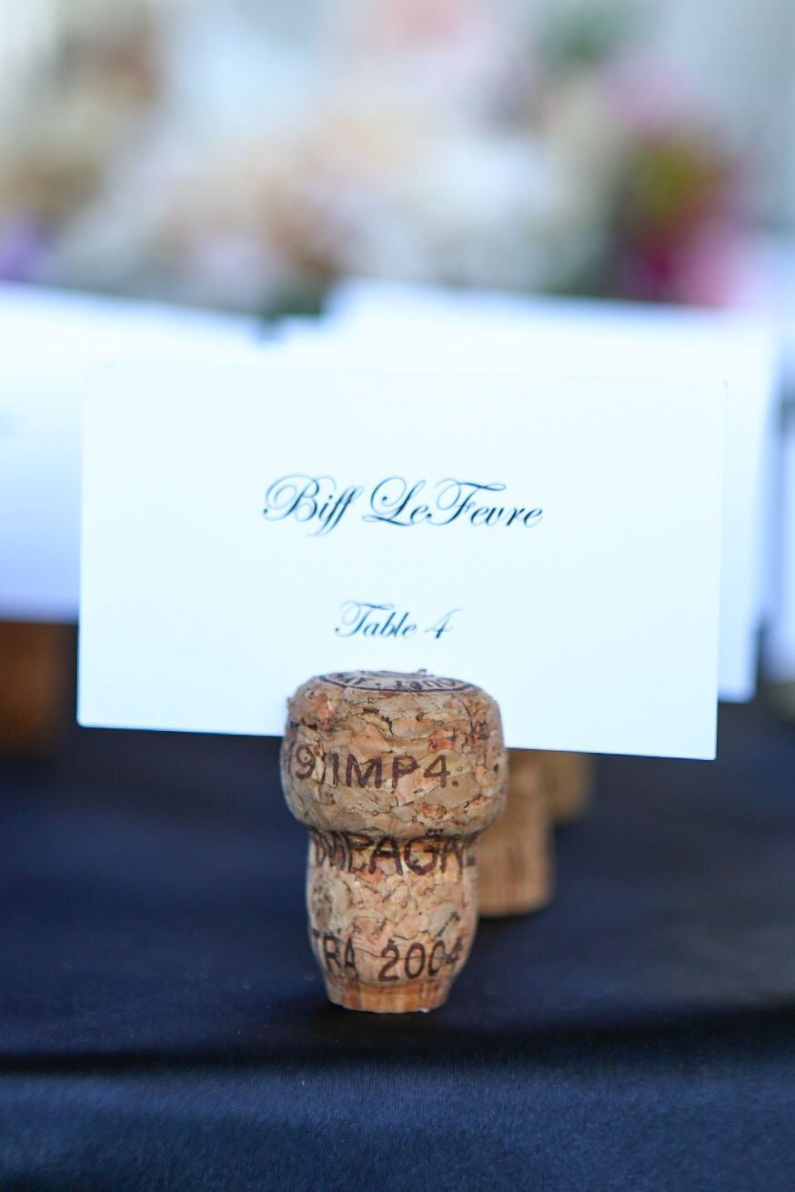 Champagne Cork Place Card Holders Champagne Place Card Holders From