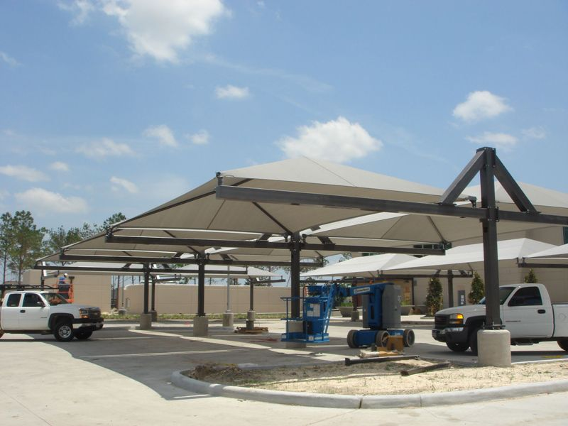 Canopy Parking Lot Shade Structures & Canopy Parking Lot Shade Structures | Parking Canopies | Pinterest ...