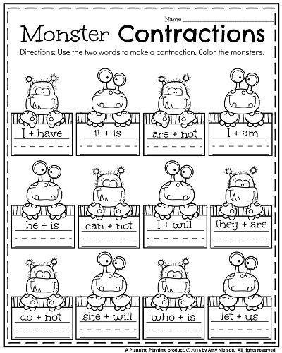 October First Grade Worksheets | First grade phonics, First ...