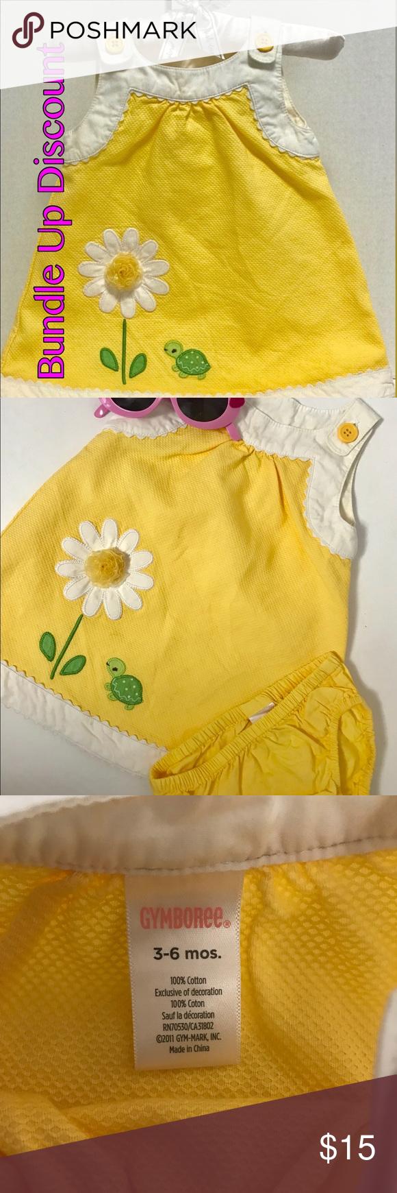 Yellow dress 3-6 months  Gymboree Summer Yellow Girl Dress  My Posh Picks  Pinterest