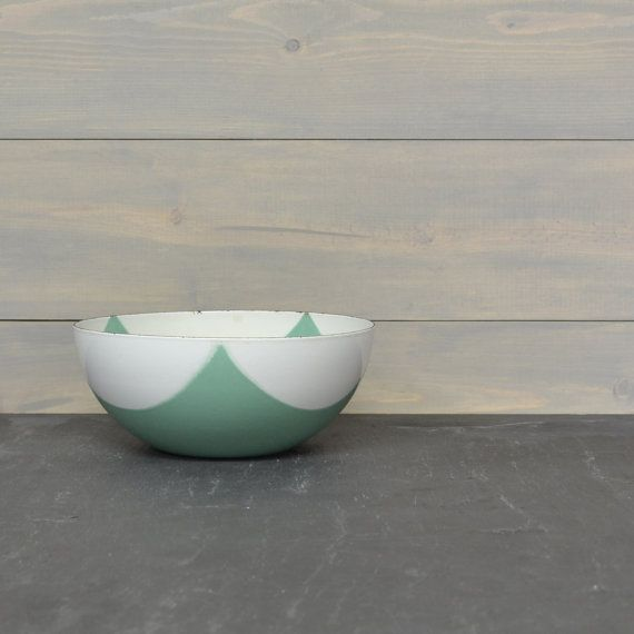 Cathrineholm Square Flag Bowl  8 inch Bowl  Sea Foam by KOLORIZE, $225.00