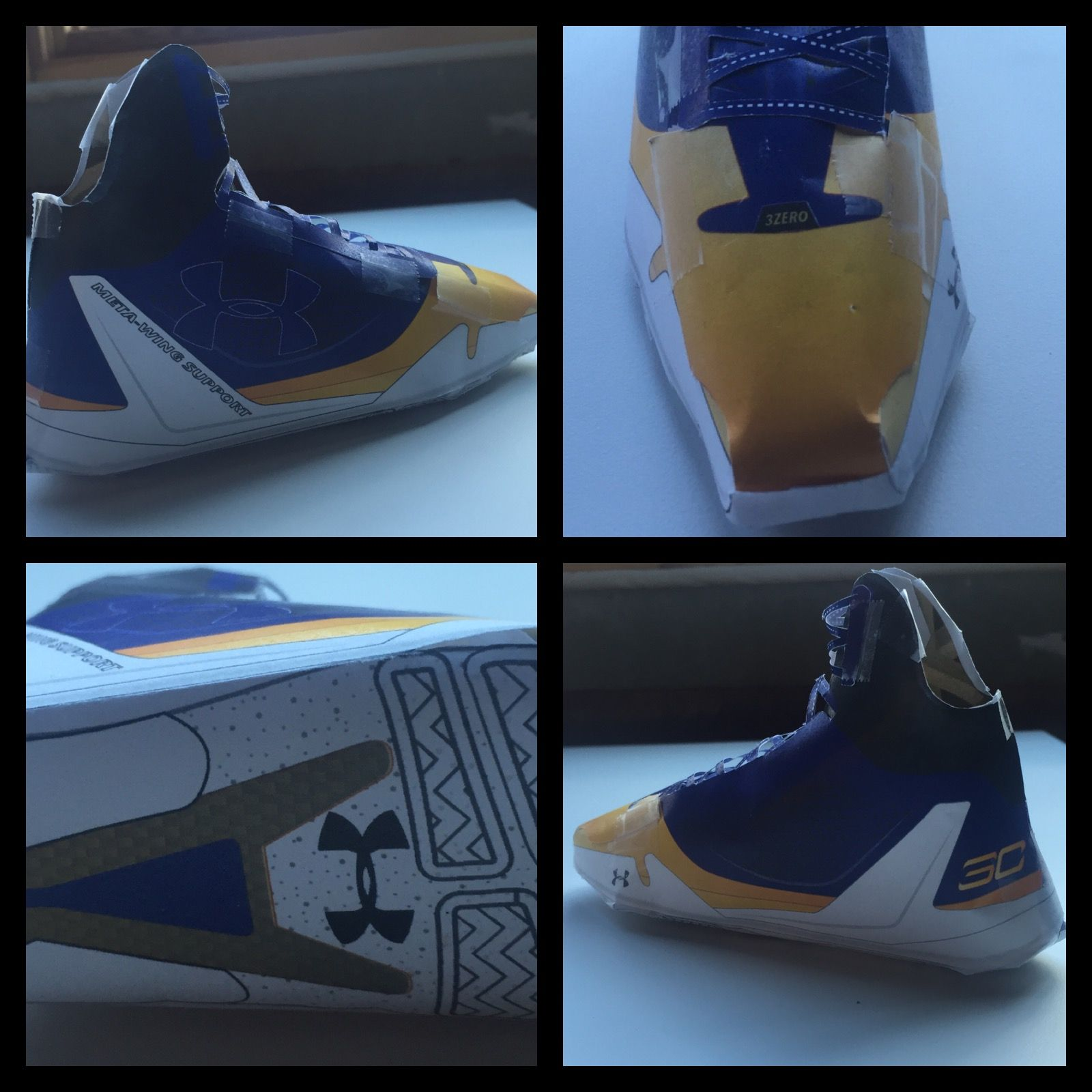 the latest 5625c e5909 Paper Armour concept for Under Armour Stephen Curry signature shoe.