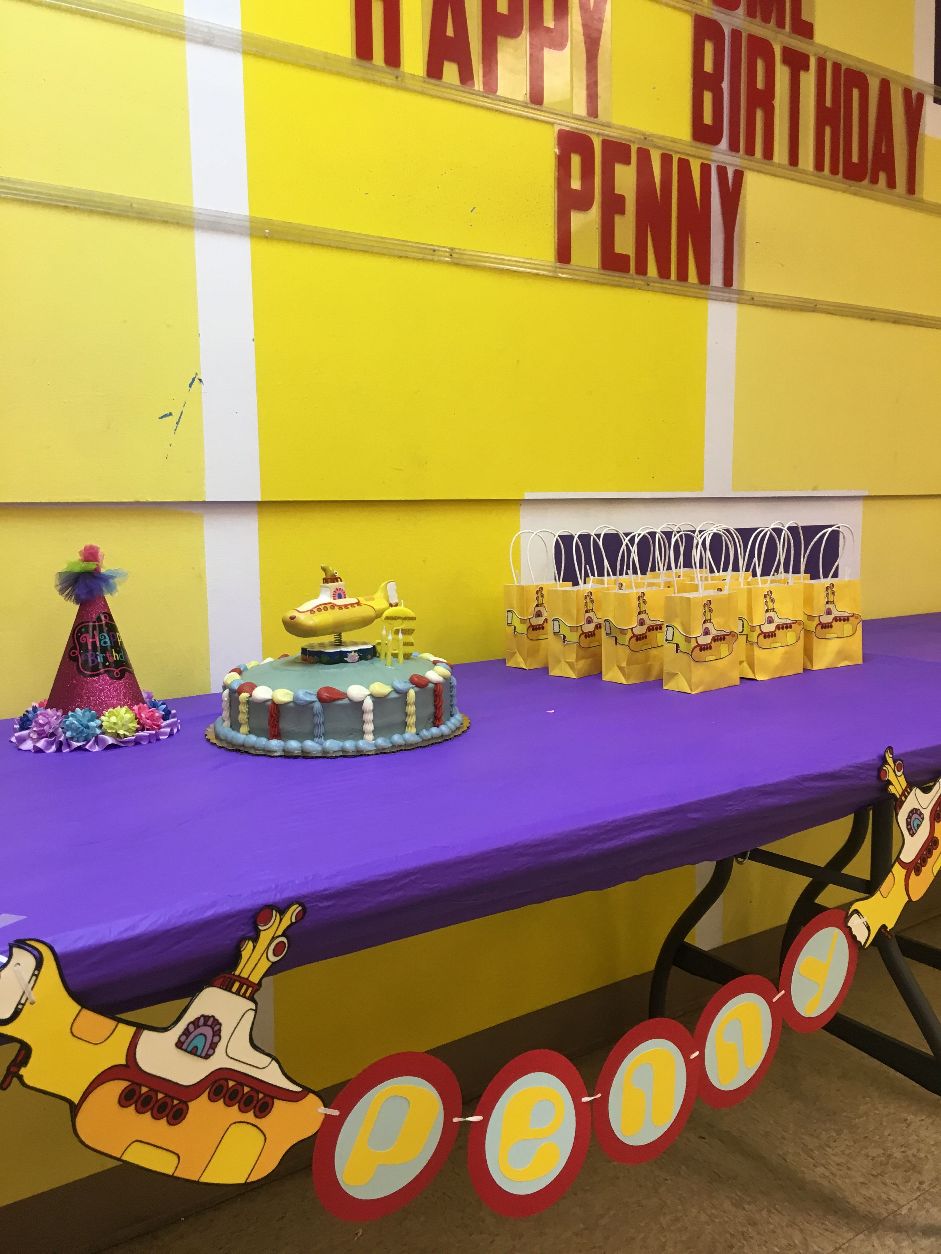 Yellow Submarine Birthday Party Decorations Penny Lives In A
