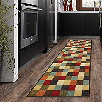 Amazon Com Ottomanson Ottohome Collection Multi Color Contemporary Checkered Design Modern Area Rug With Non Modern Rug Runner Modern Runner Modern Area Rugs