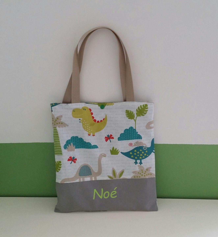 87386a7ce91a2c Tote bag enfant personnalisée, sac de bibliothèque