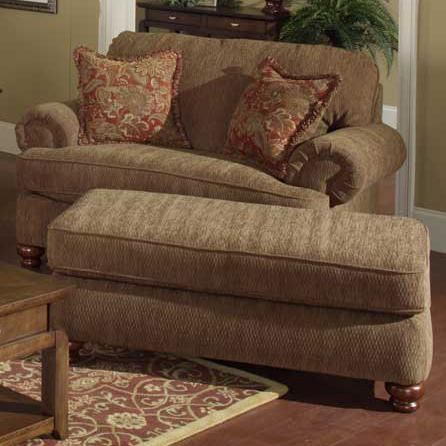 Best 4347 Belmont Chair And A Half Ottoman By Jackson 400 x 300
