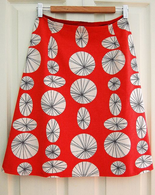 by indiaeden, via Flickr - a line skirt tutorial