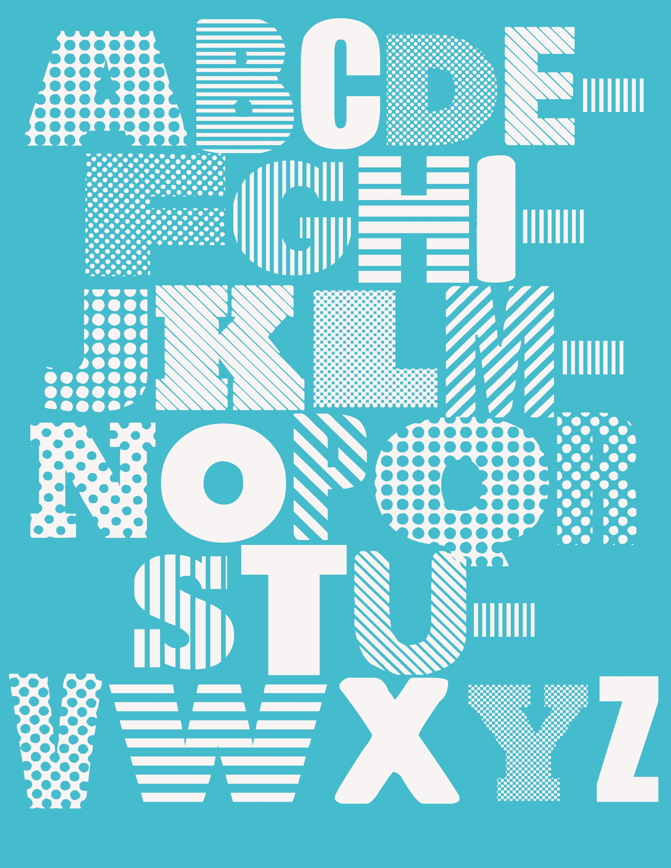 Free Printable Alphabet Poster Plakater Bornevaerelse Og Billeder