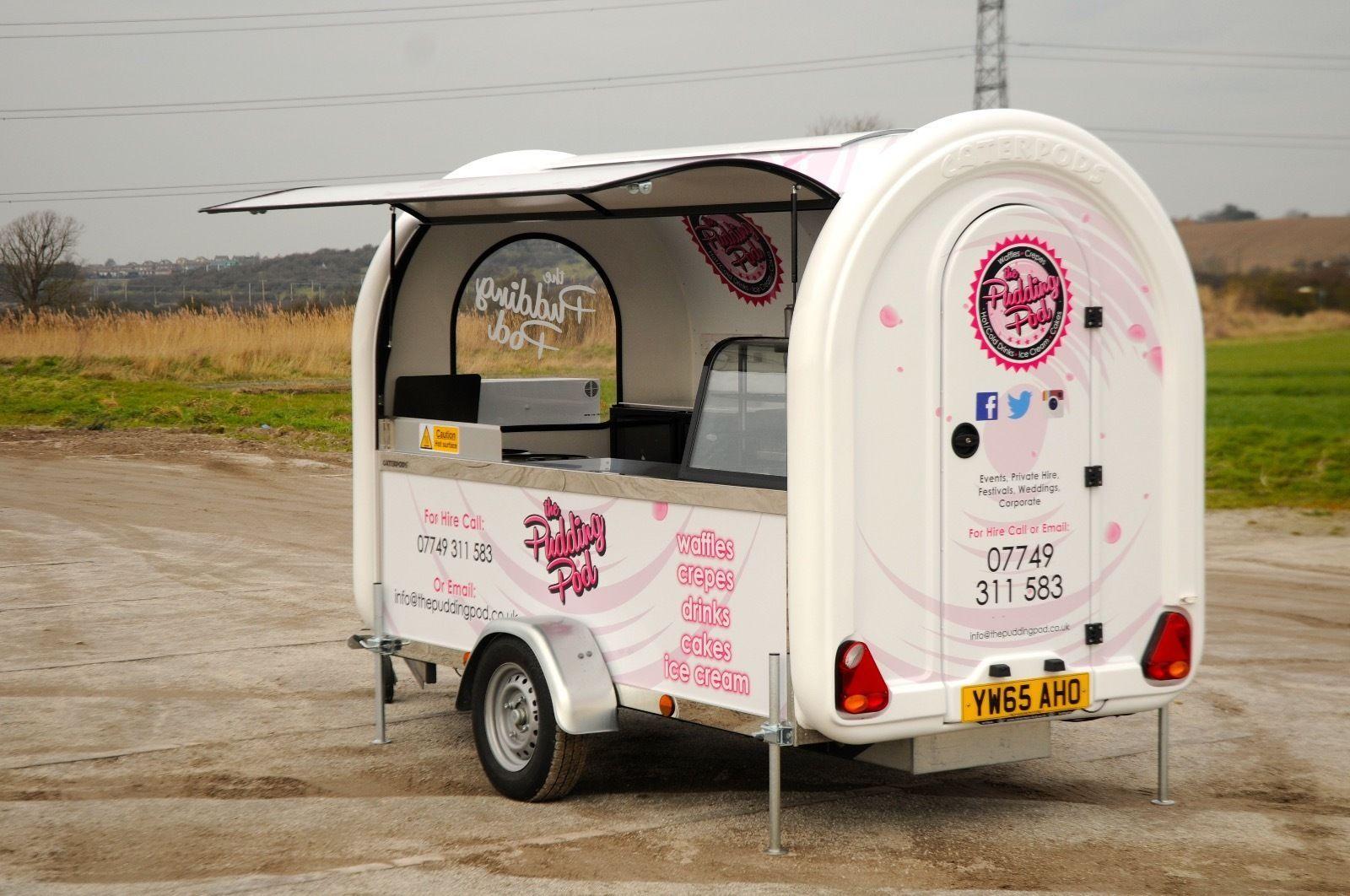 Mobile catering trailer  Doughnut, Waffle & Ice Cream Van