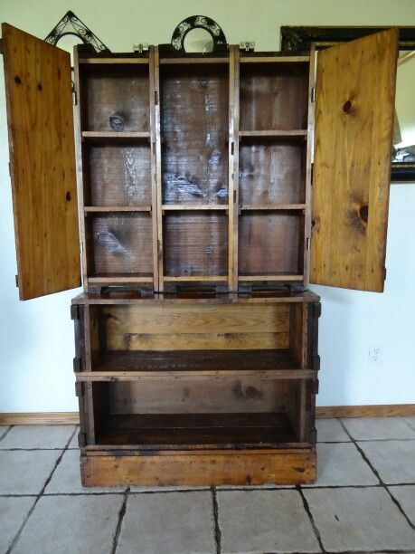 Ammo Box Cabinet Rustic Craft Ideas Old Wooden Boxes Ammo