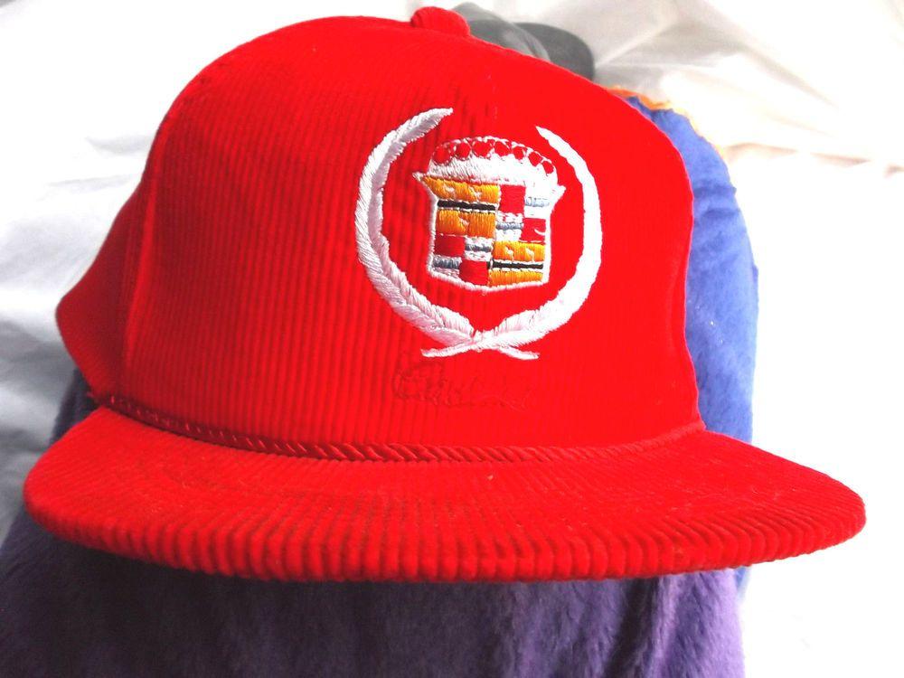 Vintage Embroidery 1 Size Fits All Cadillac Corduroy Baseball Cap!  Cadillac   BaseballCap 467381a6d871
