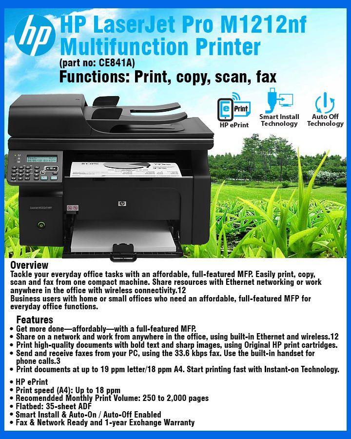 HP LaserJet Pro M1212nf Multifunction Printer (CE841A