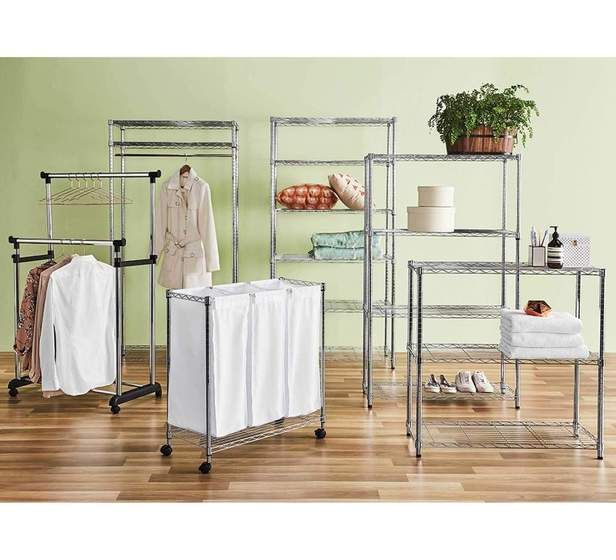 Stash 3 Divider Laundry Trolley Fantastic Furniture 4900