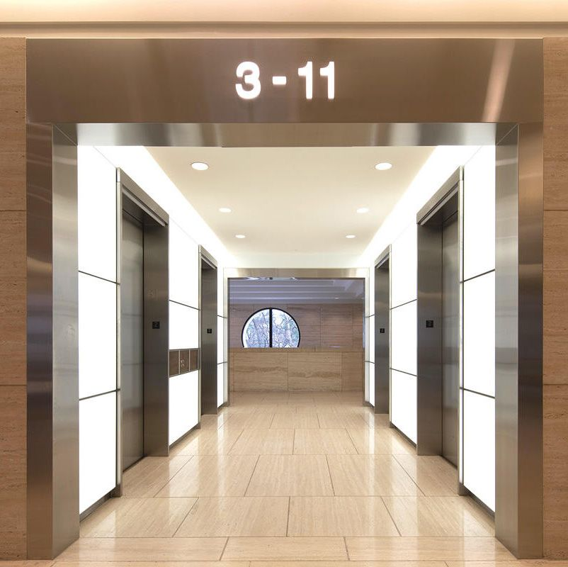 Located In Houston Texas Five Post Oak Park Is A 28 Story Building With Class A Office Space Newly Renovated Common A Oak Park Elevator Interior Common Area