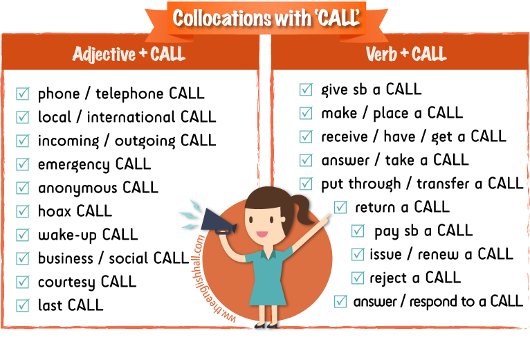 collocations with CALL