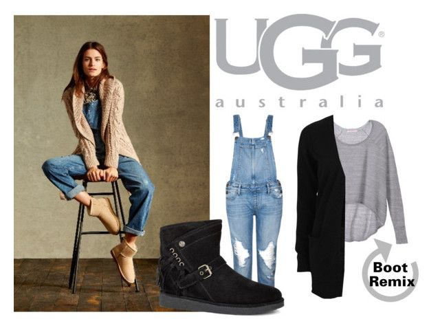 """""""Boot Remix with UGG : Contest Entry"""" by deegeemariegifts ❤ liked on Polyvore featuring UGG Australia, Paige Denim, Victoria's Secret, VILA, ugg and uggaustralia"""