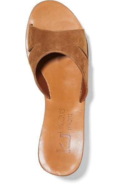 d7ea485daae6 K Jacques St Tropez - Kobe Suede And Cork Wedge Sandals - Tan - IT36 ...